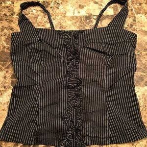 Torrid black and white gothic corset top.
